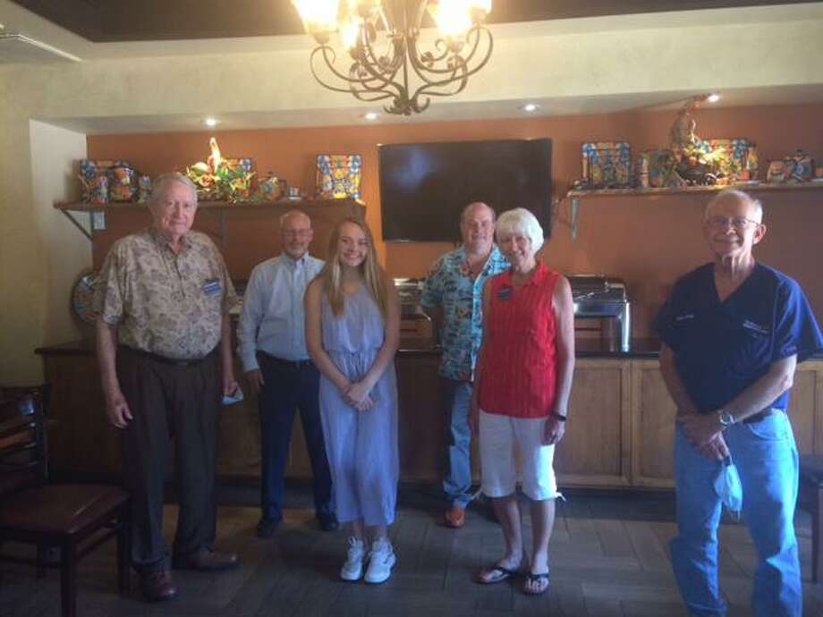 At the Conroe Noon Kiwanis Aug. 5 meeting one of the scholarship winners, Rylie Henderson ate lunch with club members. Rylie graduated from The Woodlands High School and is now attending Ole Miss with a focus on pharmacy. Photo: Courtesy Photo