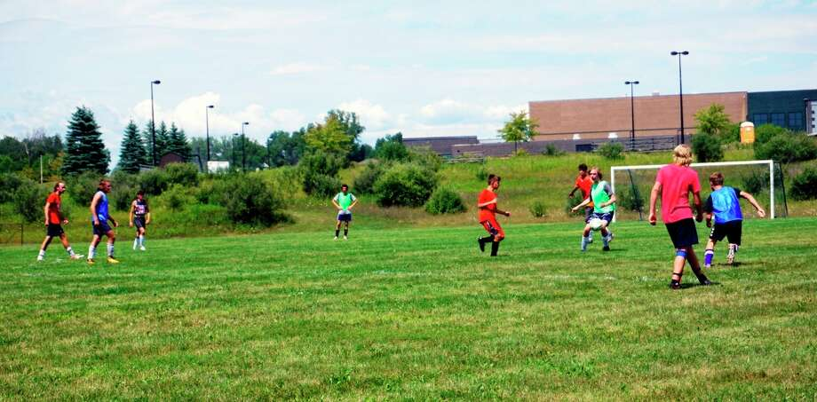 The Big Rapids Boys soccer team just finished up with its first week of practice since before the COVID-19 pandemic. (Pioneer photos/Joe Judd)