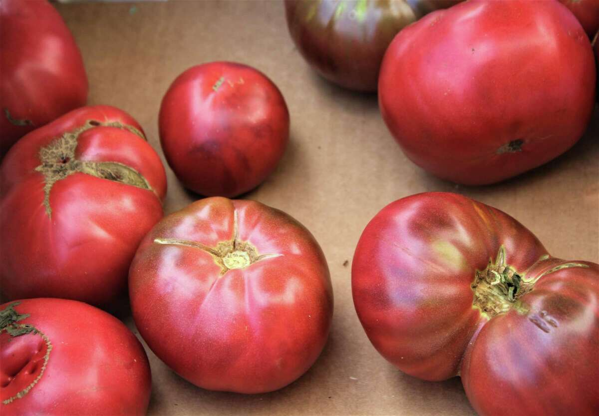 The Middletown Farmers Market on the South Green is in full swing. It runs Fridays from 10 a.m. to 2 p.m. Shown are heirloom tomatoes from Gotta's Farm in Portland.