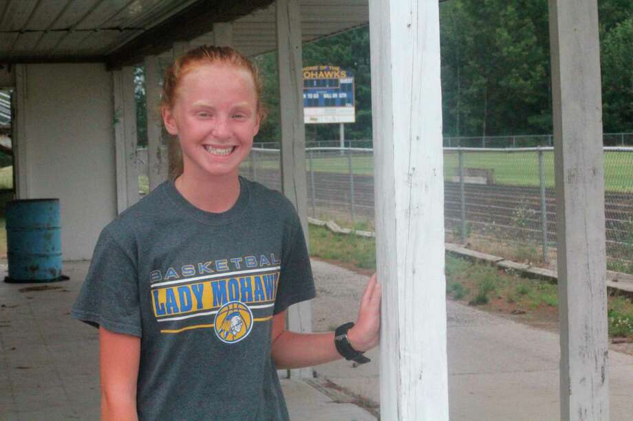 Miranda McNeil gets ready for a Morley Stanwood run during the summer. (Pioneer/John Raffel)