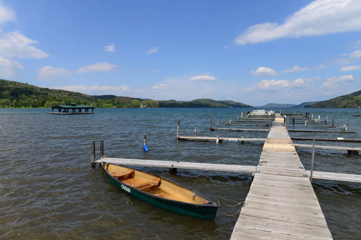 A view looking across Blackbird Bay from lake Front Park Monday, May 19, 2014, in Cooperstown, N.Y. (Will Waldron/Times Union)
