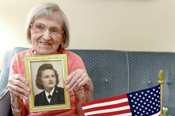 Branford resident and WWII veteran Dorothy Nelligan, seen in her home Aug. 14, 2020, will turn 101 Tuesday.