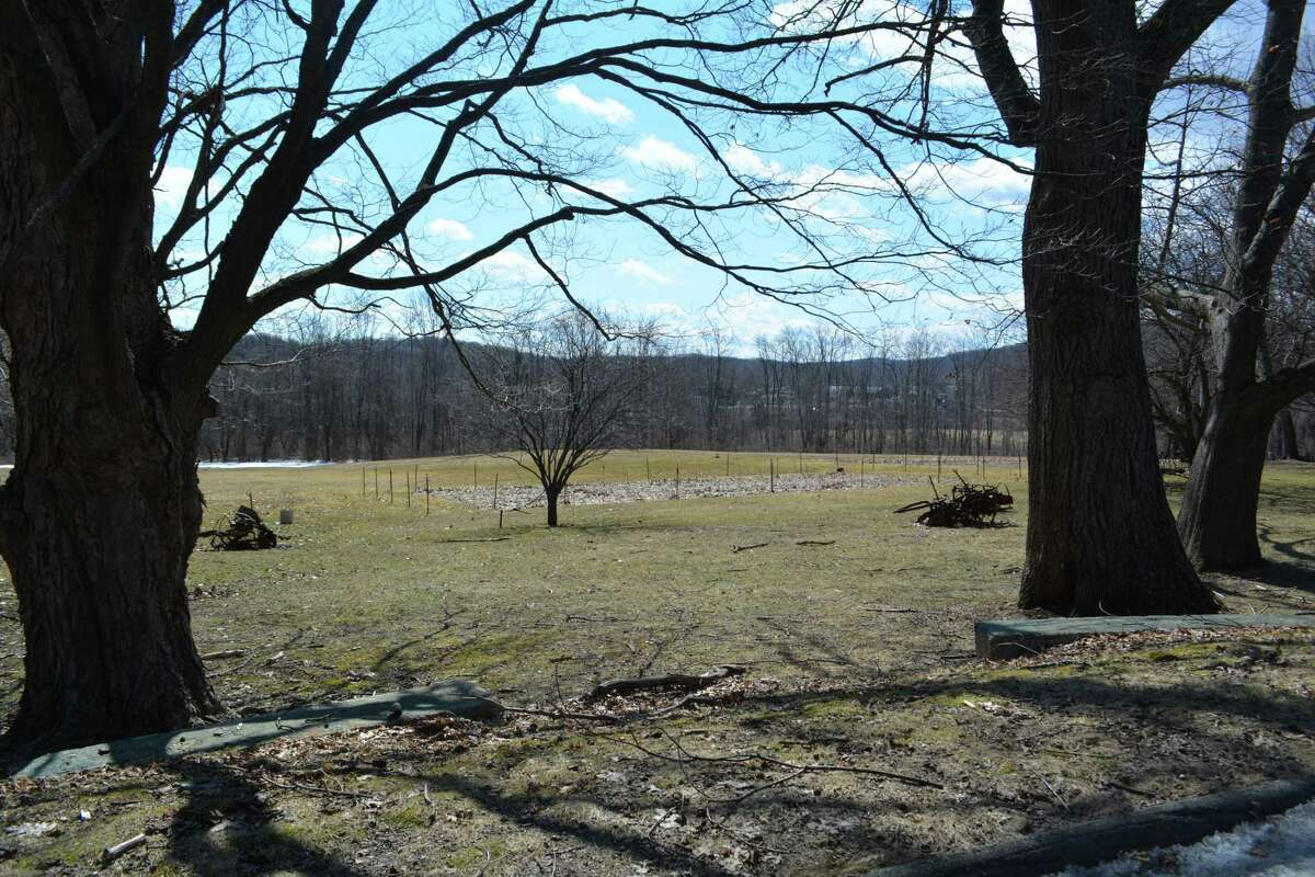Property near the proposed development of 120 apartments in four buildings near the Greenbrier Estates subdivision.