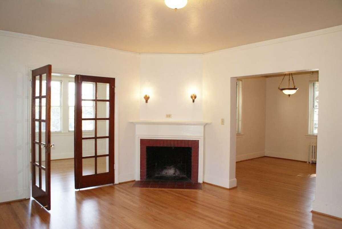 All of the living space is on the main floor, which includes a fireplace.