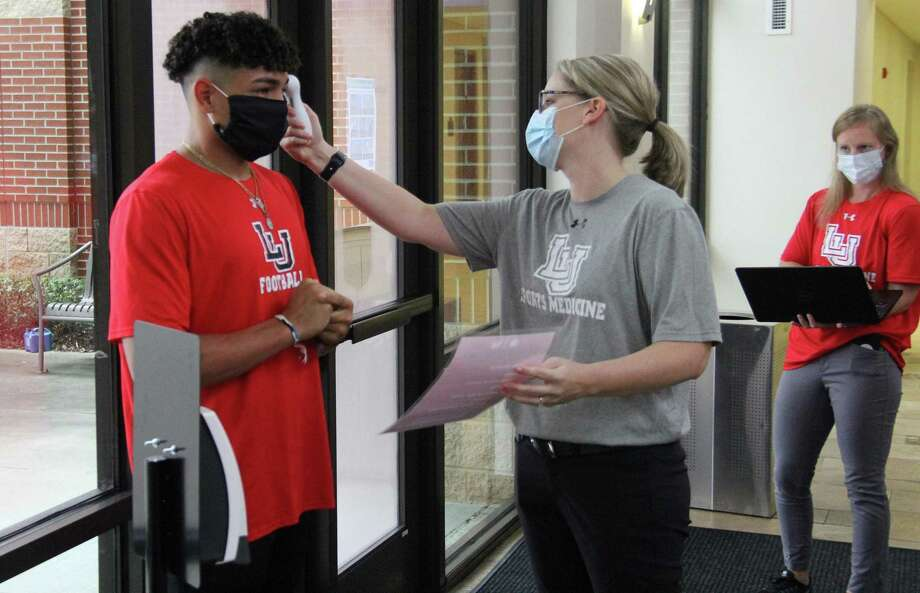 Lamar football players reporting to the Dauphin Athletic Complex Monday were met with a heavy set of coronavirus protocols. Photo: James Dixon, Lamar University Athletics