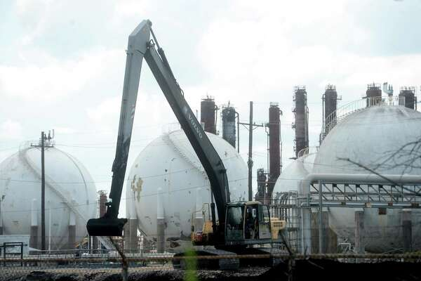 Work is underway Friday at the TPC Group plant in Port Neches, where demolition at the site began Thursday. Photo taken Friday, August 14, 2020 Kim Brent/The Enterprise