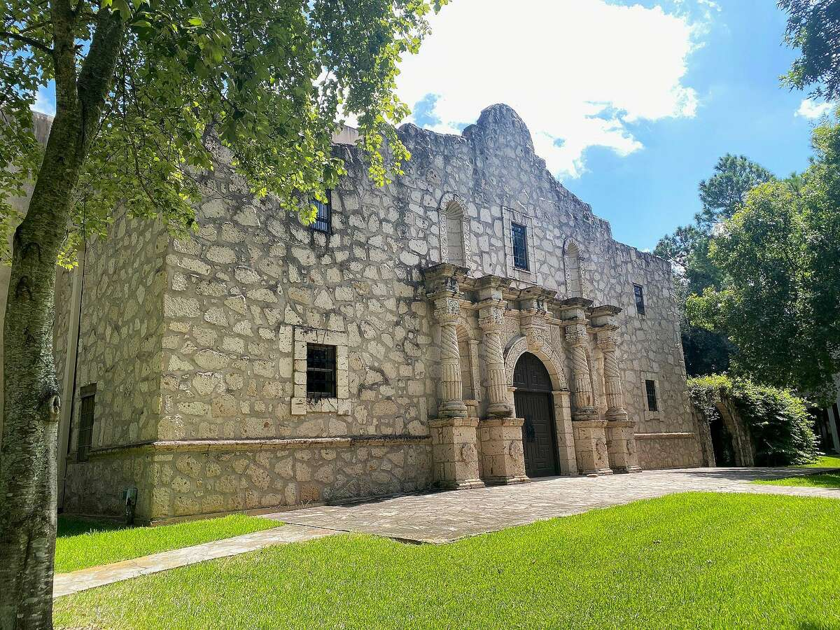 The Alamo replica in Cypress was built by Kwik Kopy owner and founder 'Bud' Hadfield on the Kwik Kopy Northwest Forest Conference Training Center on Telge.