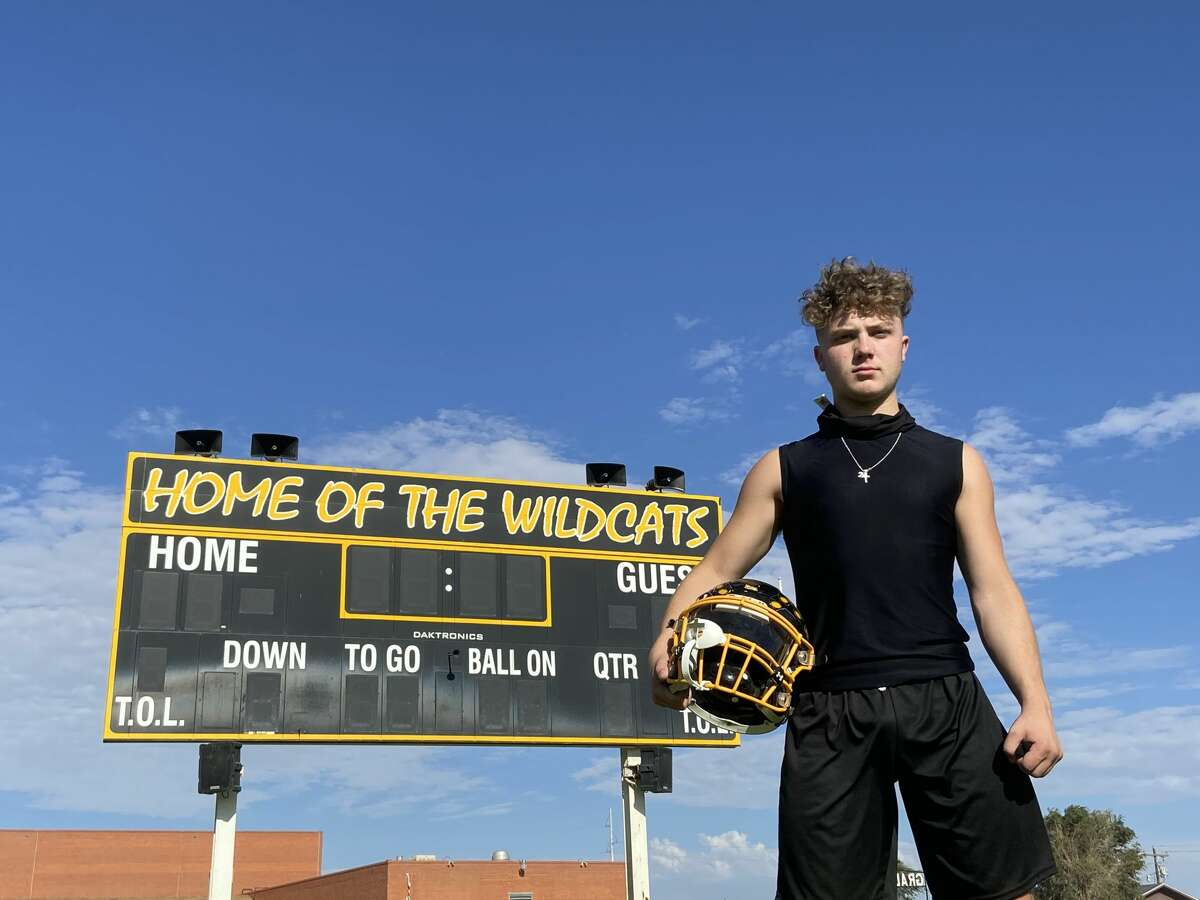 Grady senior running back/defensive back Caden Hayes pictured at Tunnell Field in Lenorah.