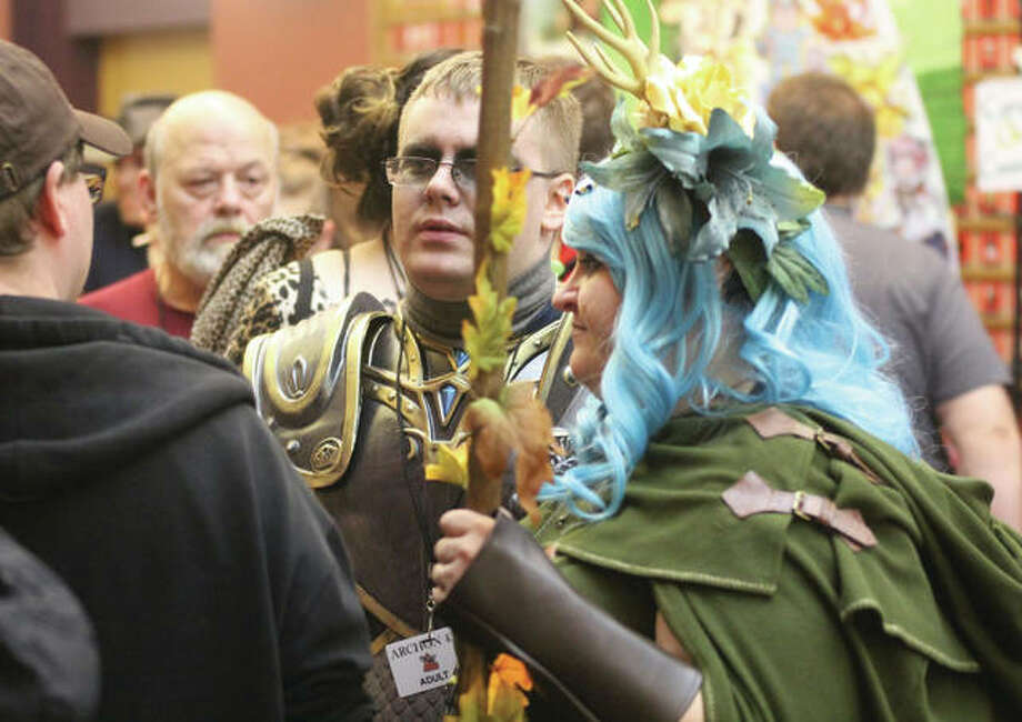 Costumed fans wait in line for an event last year at ARCHON, a science fiction/fantasy convention held at Collinsville's Gateway Center. This year's event, set for the first weekend in October, was cancelled because of COVID-19. The pandemic is expected to cost the region more than $300 million in lost tourism revenue, including conventions and other events at the Gateway Center.