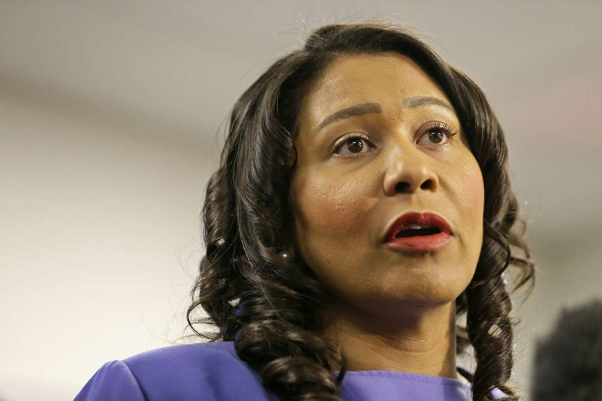 FILE - In this Aug. 2, 2019, file photo, San Francisco Mayor London Breed speaks during a news conference in San Francisco. The potential ascendancy of Sen. Kamala Harris to the vice presidency next year has kicked off widespread speculation about who might replace her if Democrats seize the White House. California Gov. Gavin Newsom is already being lobbied by hopefuls and numerous names are emerging in the early speculation. Several mayors would be possible picks, including Breed, who in Black and has ties to Harris. (AP Photo/Eric Risberg, File)