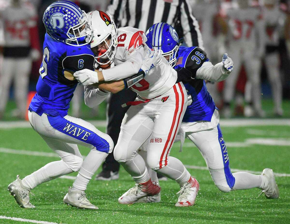 Darien defeats Greenwich 26-16 in a CIAC Class LL football quarterfinal game at Darien High School in Darien on Dec. 4. There are plenty of logistics and challeges facing fall sports following a week of decisions from the CIAC, with more decisions to come.