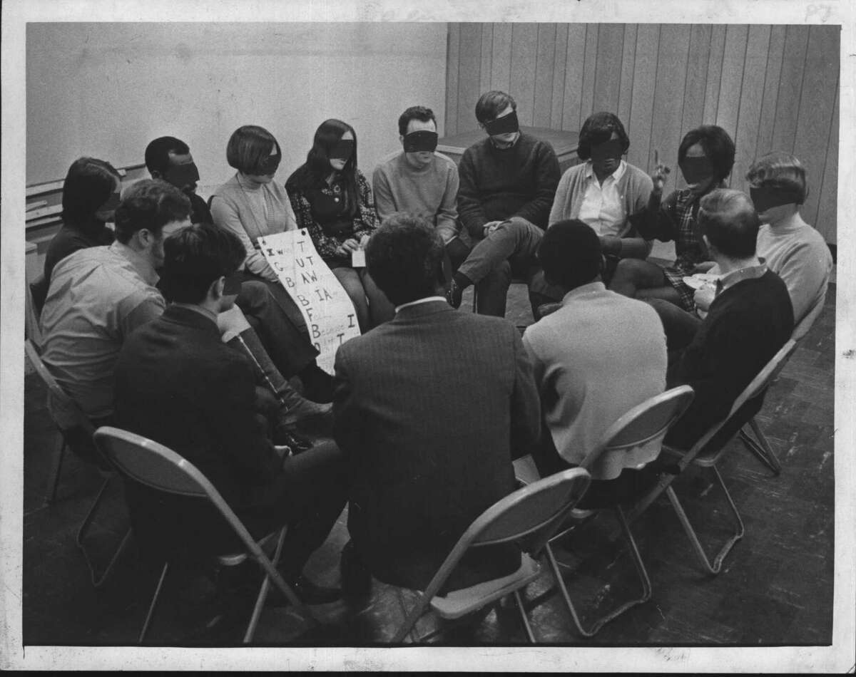 Hope House, 231 South Pearl Street, Albany, New York - group session. March 31, 1970 (Bob Wilder/Times Union Archive)