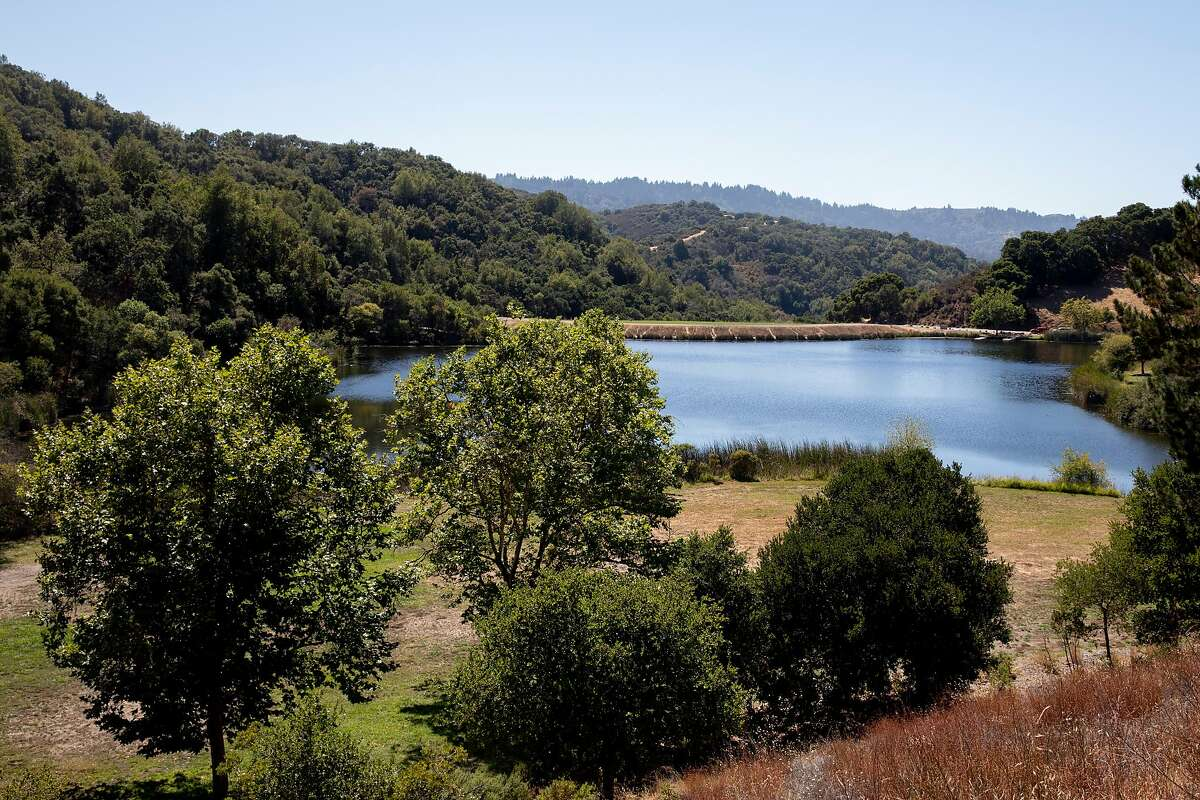 Boronda Lake at Foothills Park is seen in Los Altos Hills, Calif. Tuesday, August 11, 2020. Since it opened in 1965, Foothills Park has been restricted to residents, a practice some residents consider discriminatory. The city council finally made some concessions, allowing up to 50 non-residents a day, but activists say it's not enough.