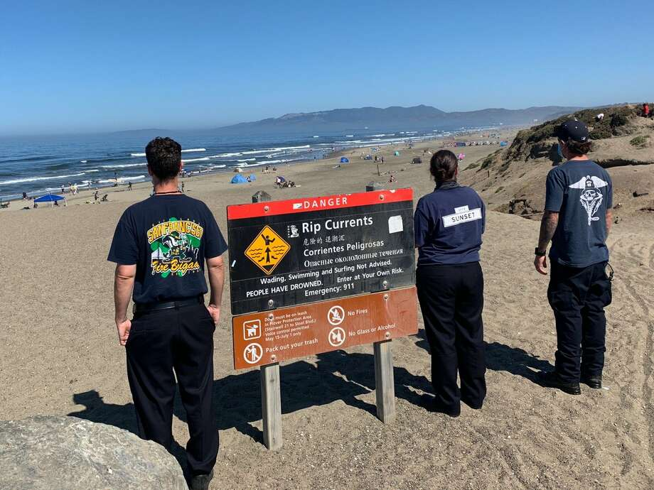 FILE -- Swimming at Ocean Beach in San Francisco is dangerous due to rip currents. Photo: SFFD