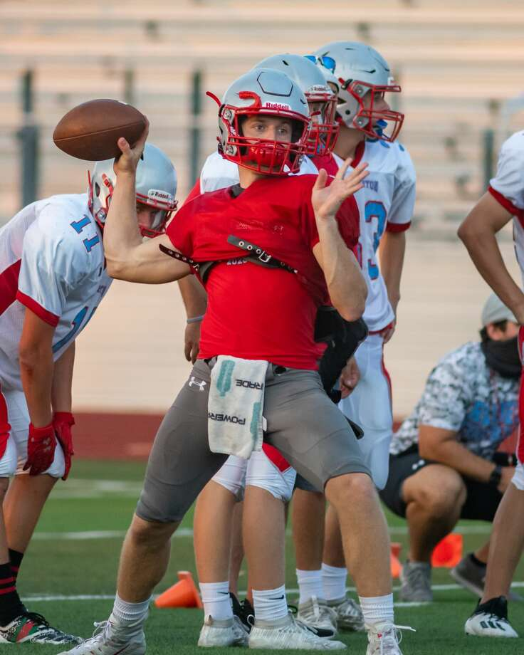 The Lumberton Raiders football team practices to get ready for the 2020 season. Photo made on August 7, 2020. Fran Ruchalski/The Enterprise Photo: Fran Ruchalski/The Enterprise / © 2020 The Beaumont Enterprise