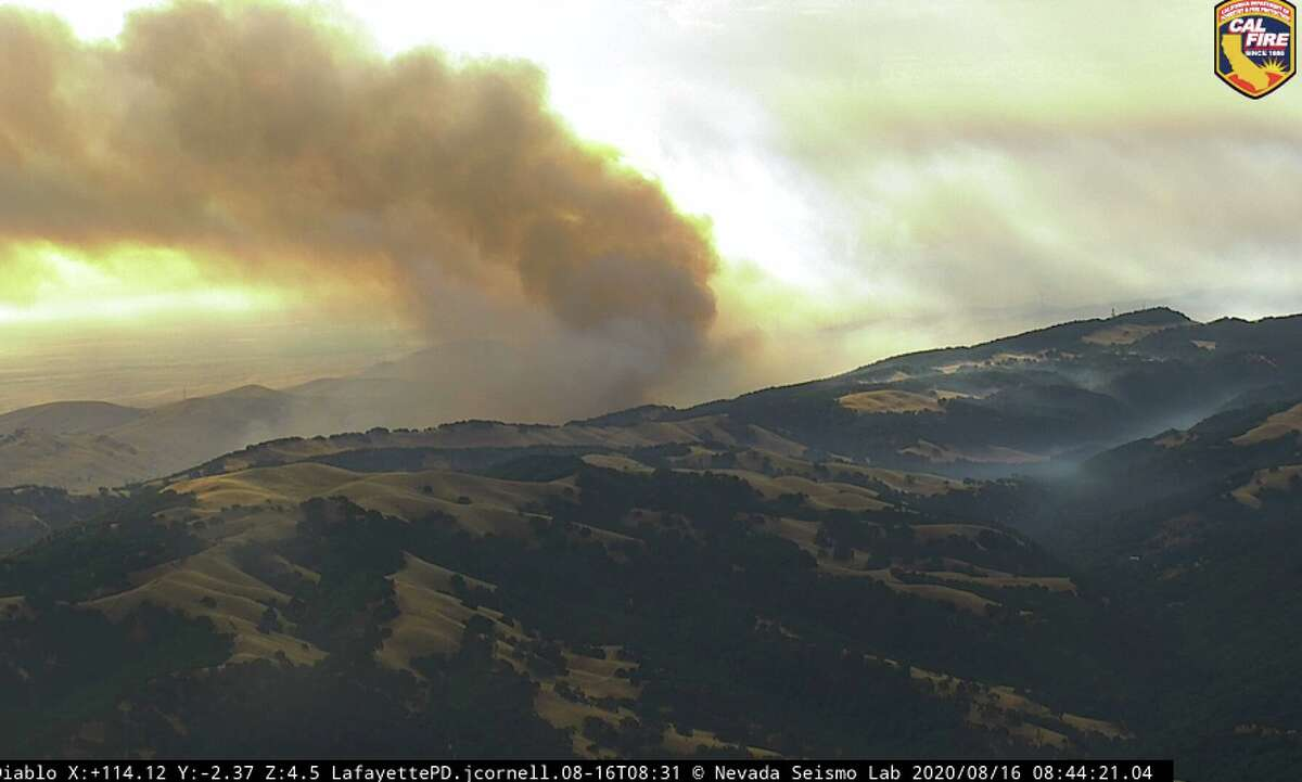 The Deer Zone series of fires near Mt. Diablo in the Marsh Creek/Round Valley area of Contra Costa County on Aug. 16, 2020.