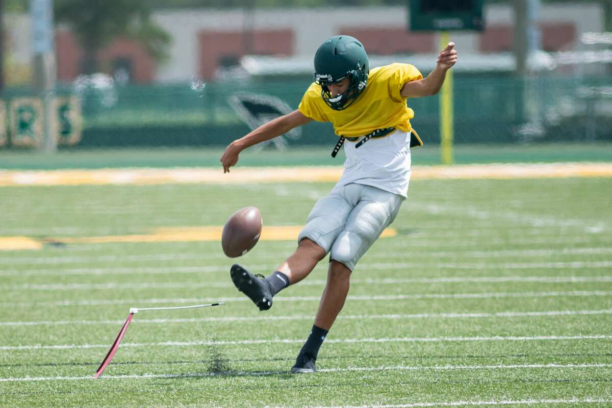 The East Chambers Buccaneers football team practices to get ready for the 2020 season. Photo made on August 12, 2020. Fran Ruchalski/The Enterprise