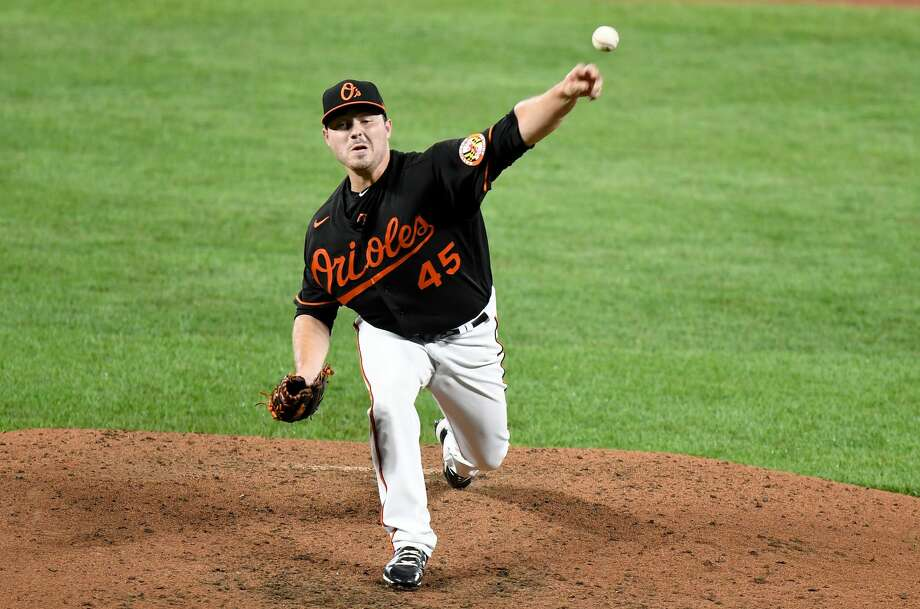 Bullock Creek alum Keegan Akin delivers a pitch during his Major League Baseball debut for the Baltimore Orioles on Friday, Aug. 14, 2020 against the Washington Nationals in Baltimore, Md. Photo: Greg Fiume/Getty Images / 2020 Getty Images