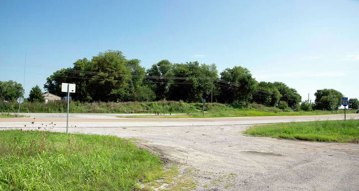 This area is where Pangea Development hopes to put in a four-way stoplight, where 143 meets Blackburn Road, background. Also in the background is part of the future site for Pangea's other project, The Pointe.