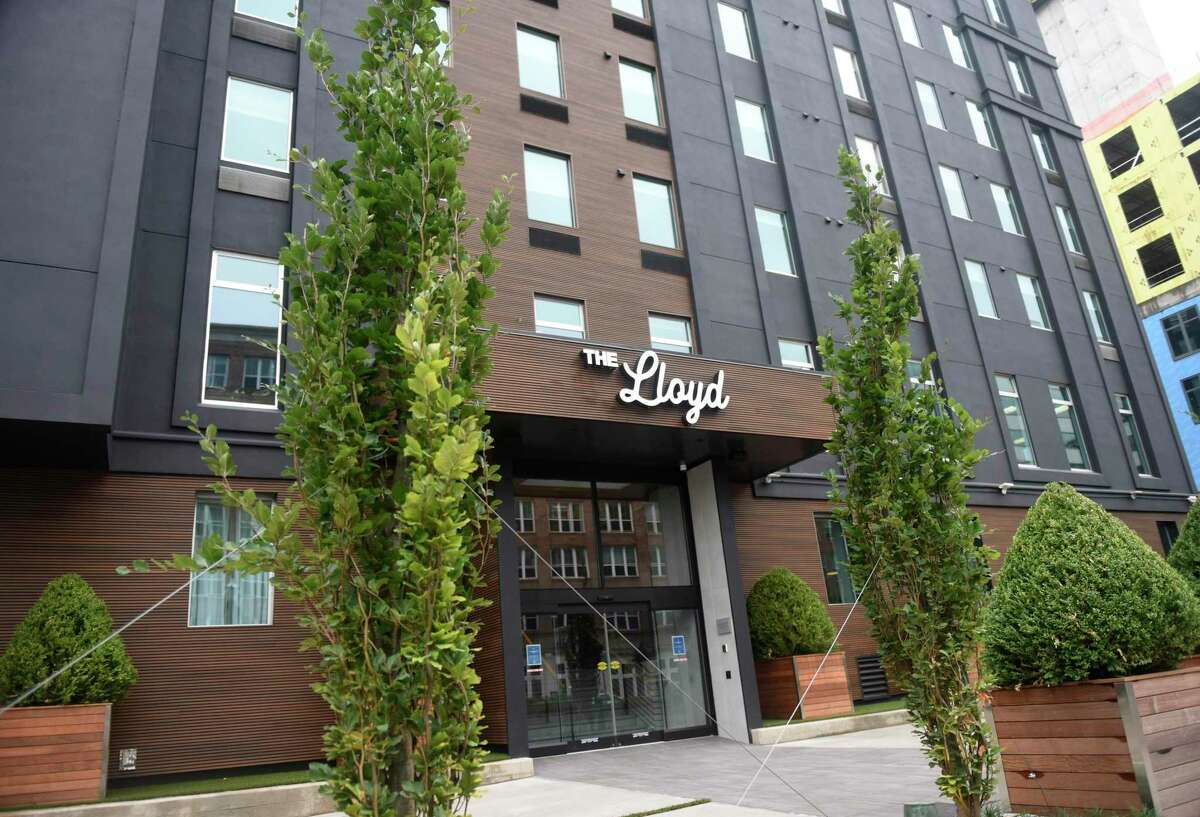 The Lloyd boutique hotel at 909 Washington Blvd., in downtown Stamford, Conn., photographed on Thursday, Aug. 13, 2020. At the location of the former Hotel Zero Degrees, the Hilton-owned three-star boutique hotel sports a swanky vibe.