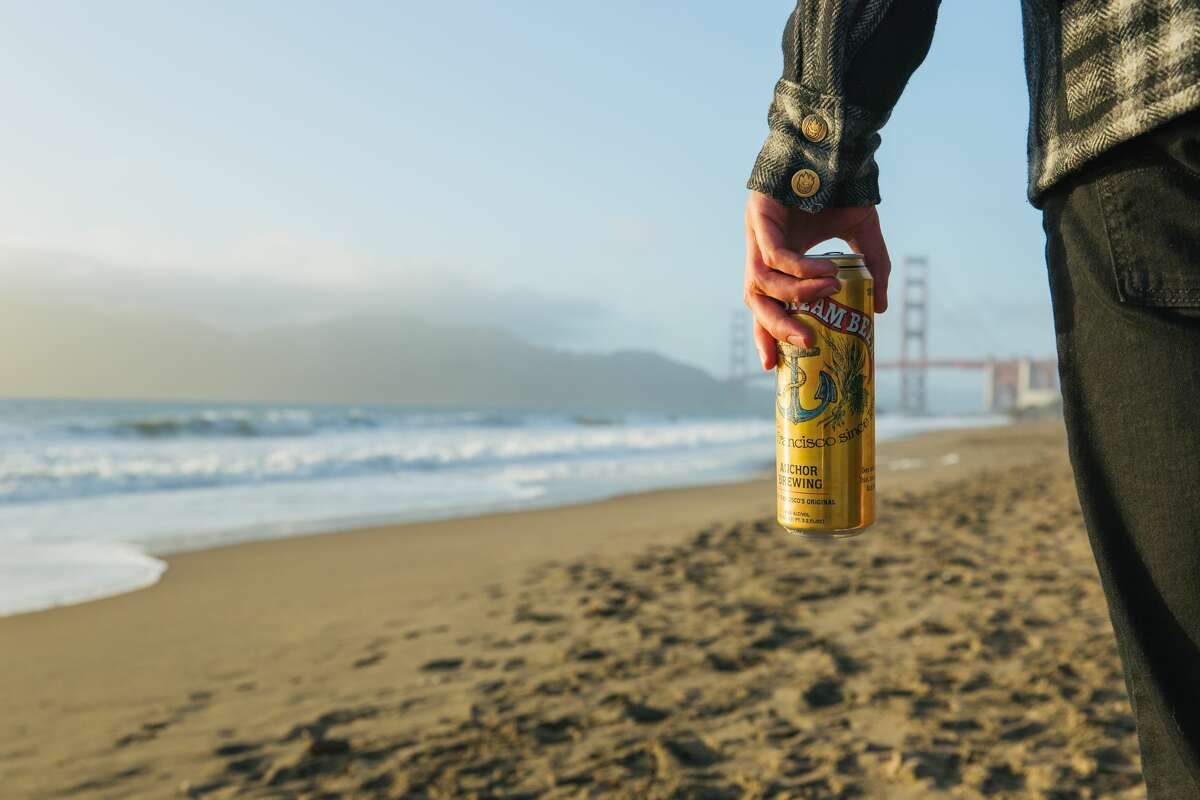 Anchor Brewing Company's flagship beer, Anchor Steam, as seen in its newish 19.2-ounce beer cans, a first that started in 2018 after decades of being bottle-only.