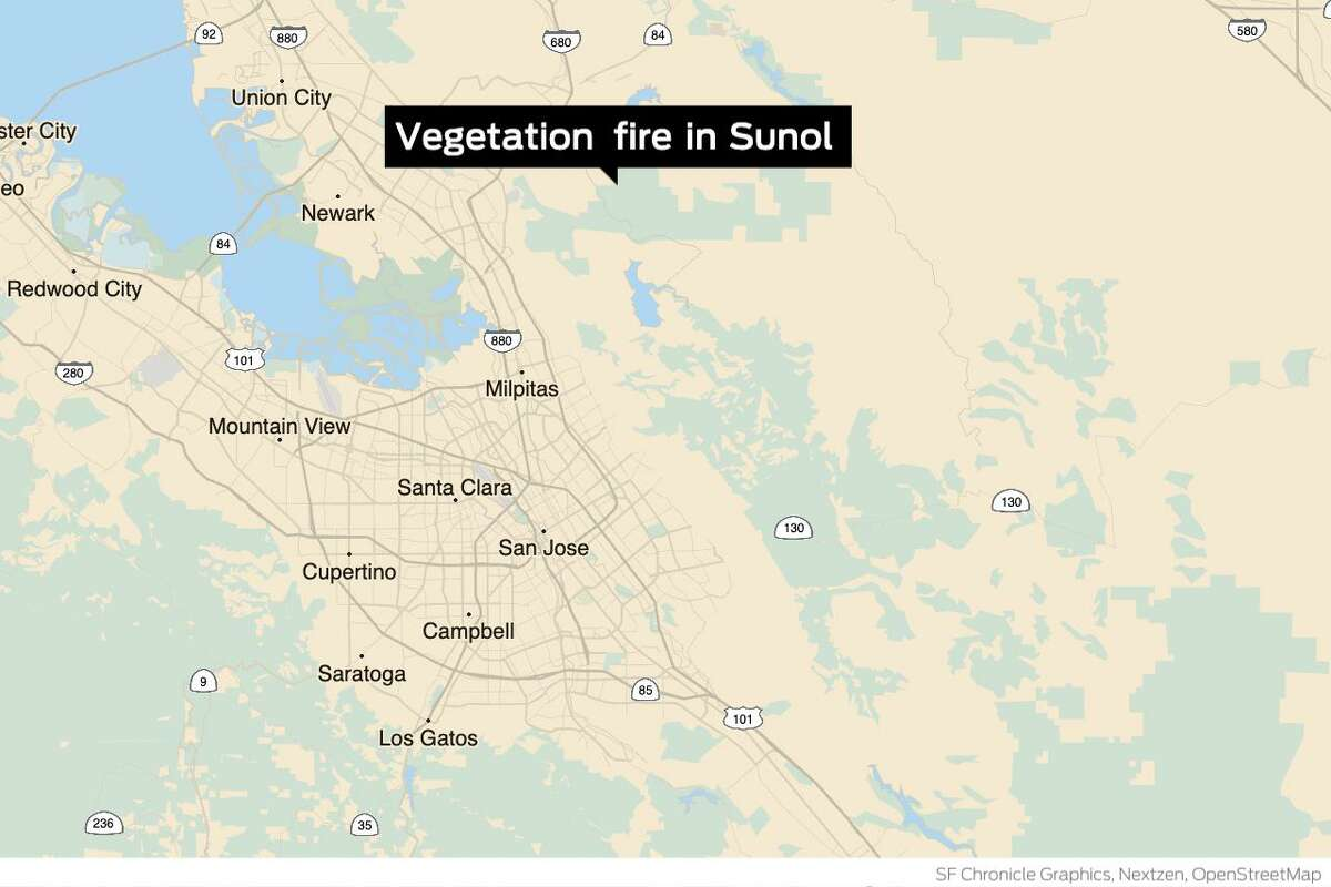 A vegetation fire in Sunol, an unincorporated part of Alameda County, has forced evacuations.
