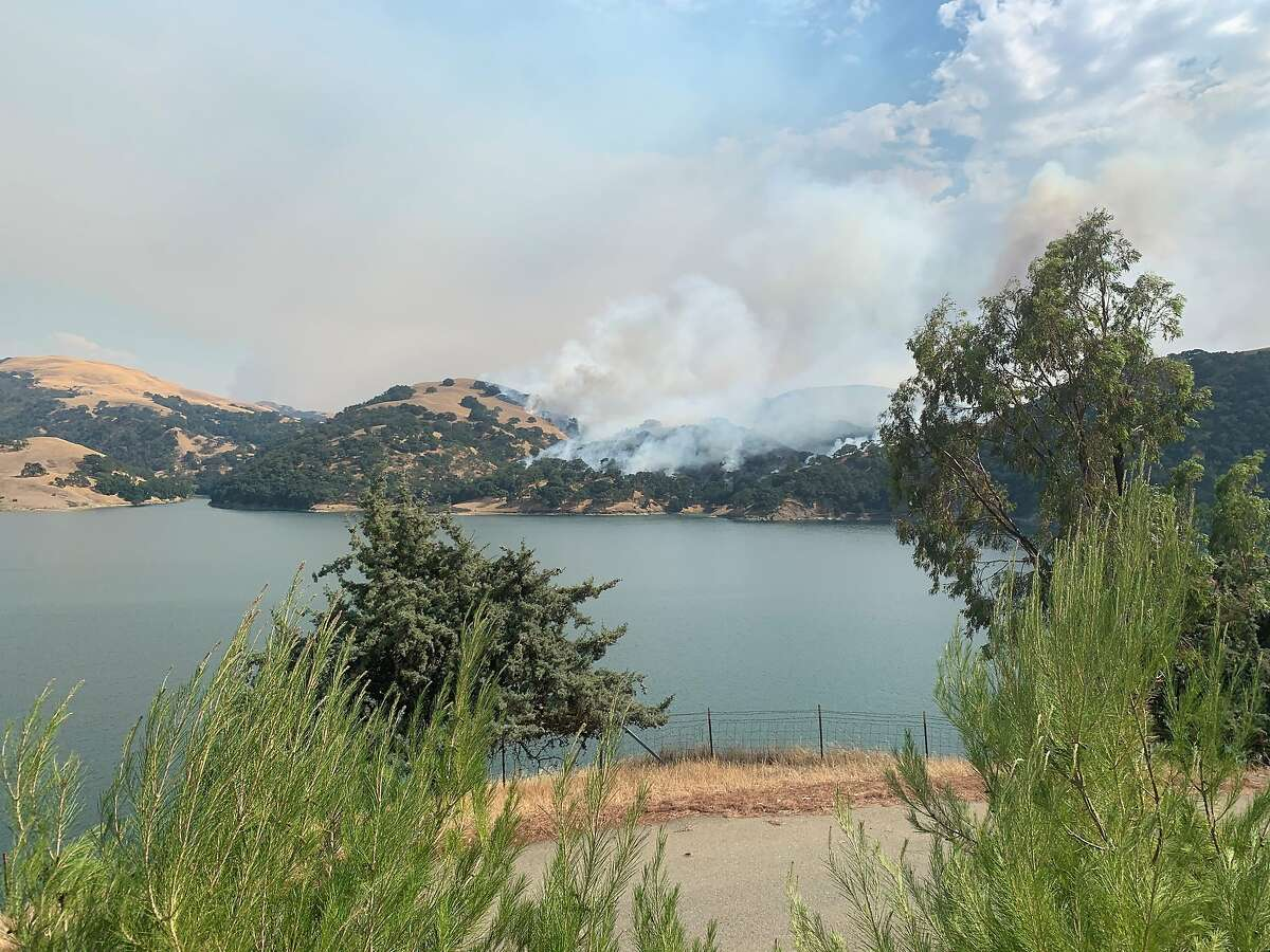 Smoke seen from the Marsh Creek Complex Fire in Sunol, Alameda County. Sunday, August 16, 2020