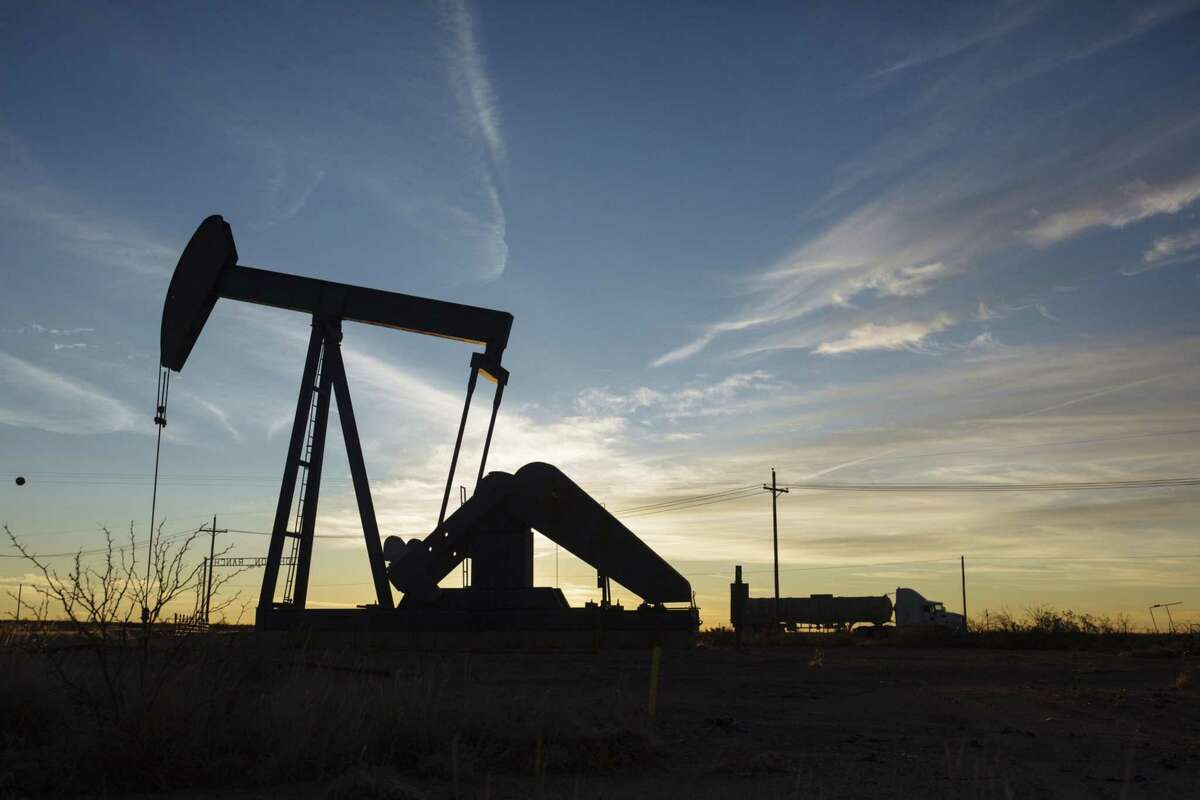 A pump jack in the Permian Basin area of Texas.