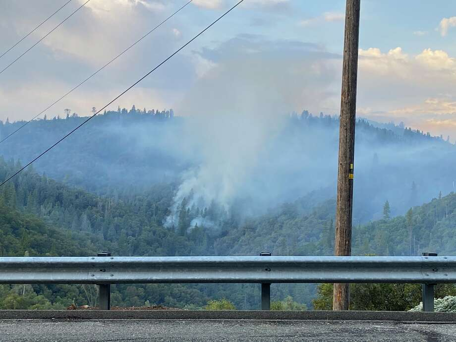 A wildfire in the South Yuba River canyon of Nevada County triggered evacuations Monday morning and officials ordered residents in the area of Jones Bar Road north of Woolman to evacuate. Photo: Cal Fire