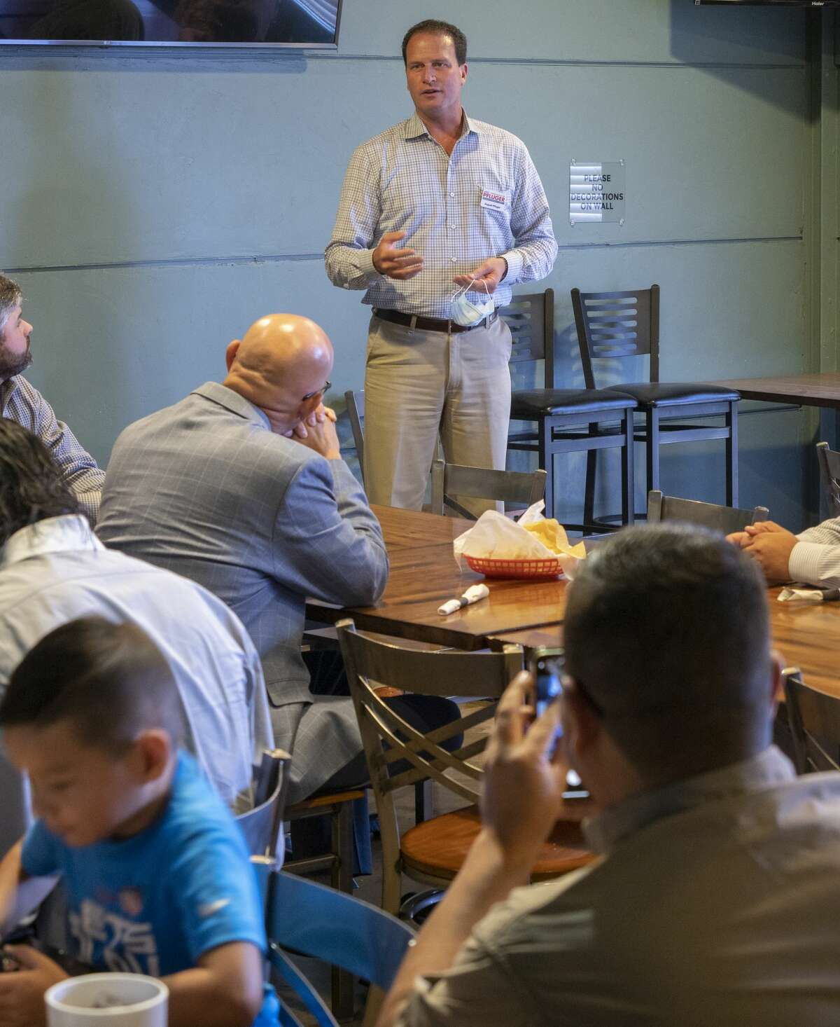 FILE PHOTO: Midlanders come out to support and listen to August Pfluger, GOP nomination for U.S. Representative, District 11, during a visit to Gerardo's Casita on 8/17/2020 afternoon. Tim Fischer/Reporter-Telegram