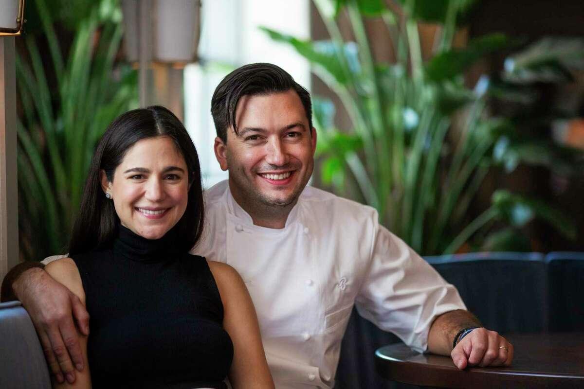 Bludorn's owners Victoria Bludorn and her husband and executive chef Aaron Bludorn at Bludorn.