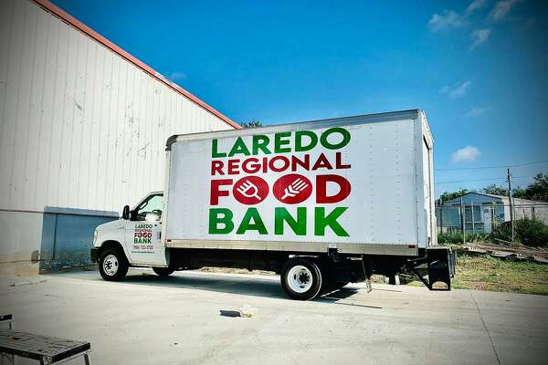 In this file photo, a truck bearing the Laredo Regional Food Bank's logo is shown.