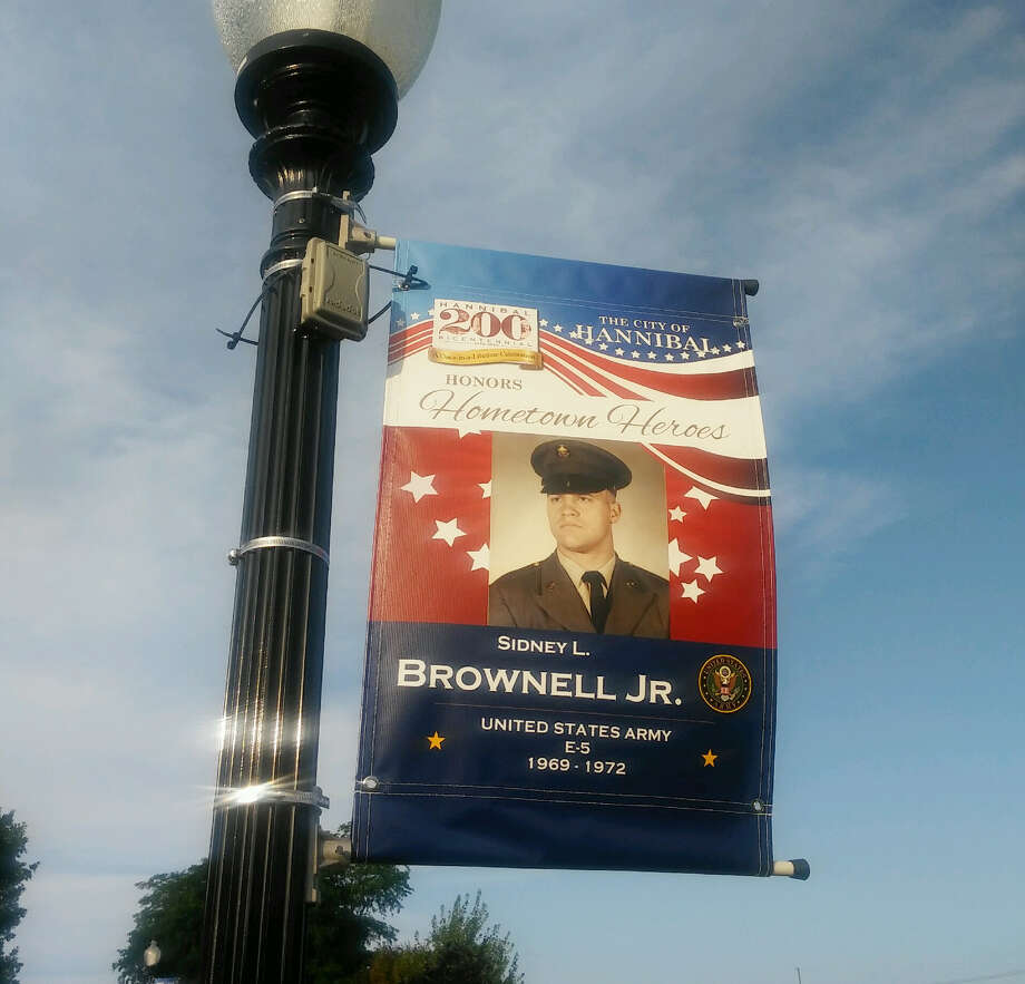 These banners of military veterans -- past and present -- are examples of what can be expected in downtown Big Rapids this November. Artworks and the city of Big Rapids have teamed up with local veterans groups to launch the Big Rapids Hometown Hero Banner program. Photo: Courtesy Photo