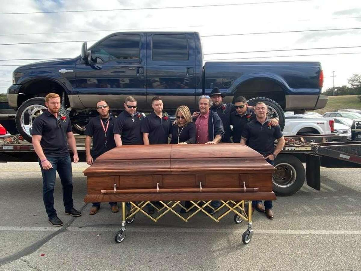 """""""We had this big reveal and surprised the parents with the restored truck in January,"""" Peña said. """"It meant so much to them, so having this truck gone is heartbreaking. That's why we have such a big reward for it."""""""