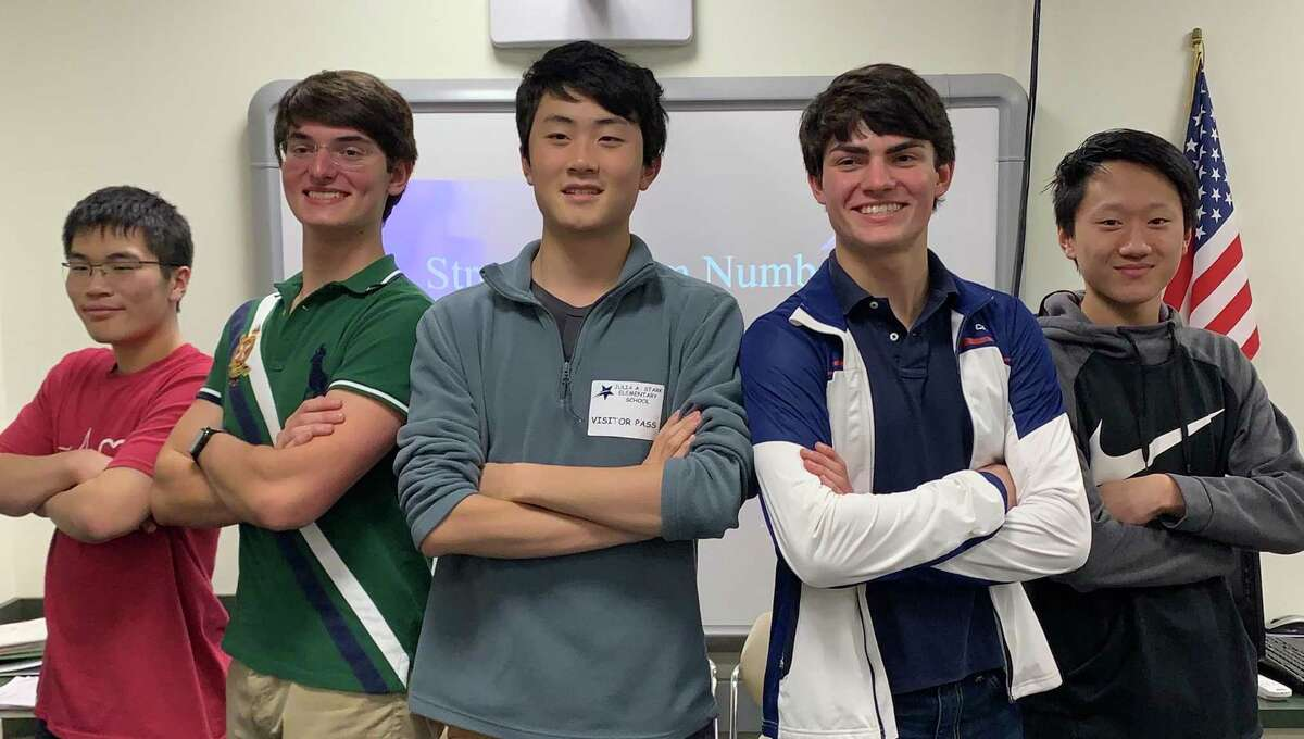 The Strength from Numbers tutors: Marcus Feng, Jonathan Strong, Ming Wu, James Strong, and Andrew Qin.