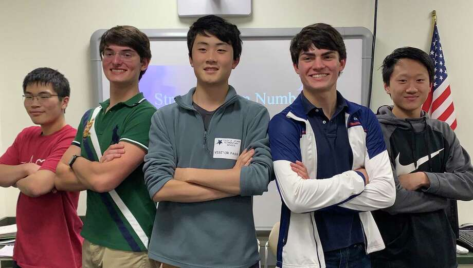 The Strength from Numbers tutors: Marcus Feng, Jonathan Strong, Ming Wu, James Strong, and Andrew Qin. Photo: Strength From Numbers / Connecticut Post
