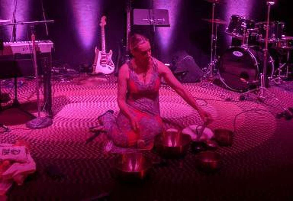 """Certified Sound Vibrational Therapist Lisa Grezlak of SVOUND will lead an immersive concert of meditative tones and vibrations called """"Soundbath"""" this Saturday at Jacoby Arts Center on E. Broadway in Alton."""