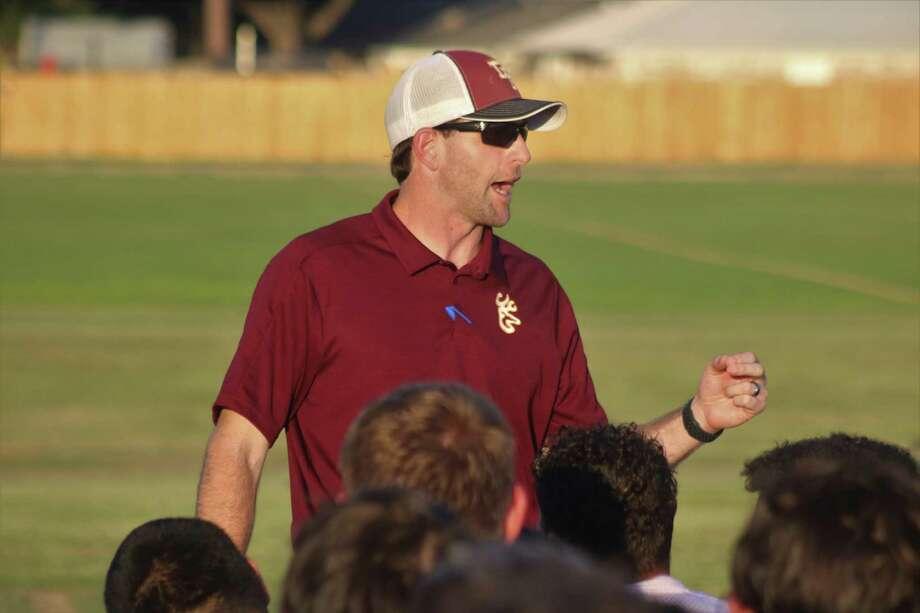 Deer Park head football coach Austin Flynn'a attention to detail is matched only by his attention to detail in seeing that all the covid-19 precautions are met in the days leading up to a hopeful start date in three weeks. Photo: Robert Avery