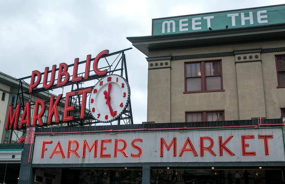 SEATTLE, WA - NOVEMBER 5: The entrance to Pike Place Market is viewed on November 5, 2015, in Seattle, Washington. Seattle, located in King County, is the largest city in the Pacific Northwest, and is experiencing an economic boom as a result of its European and Asian global business connections. (Photo by George Rose/Getty Images) Photo: George Rose/Getty Images / 2015 George Rose
