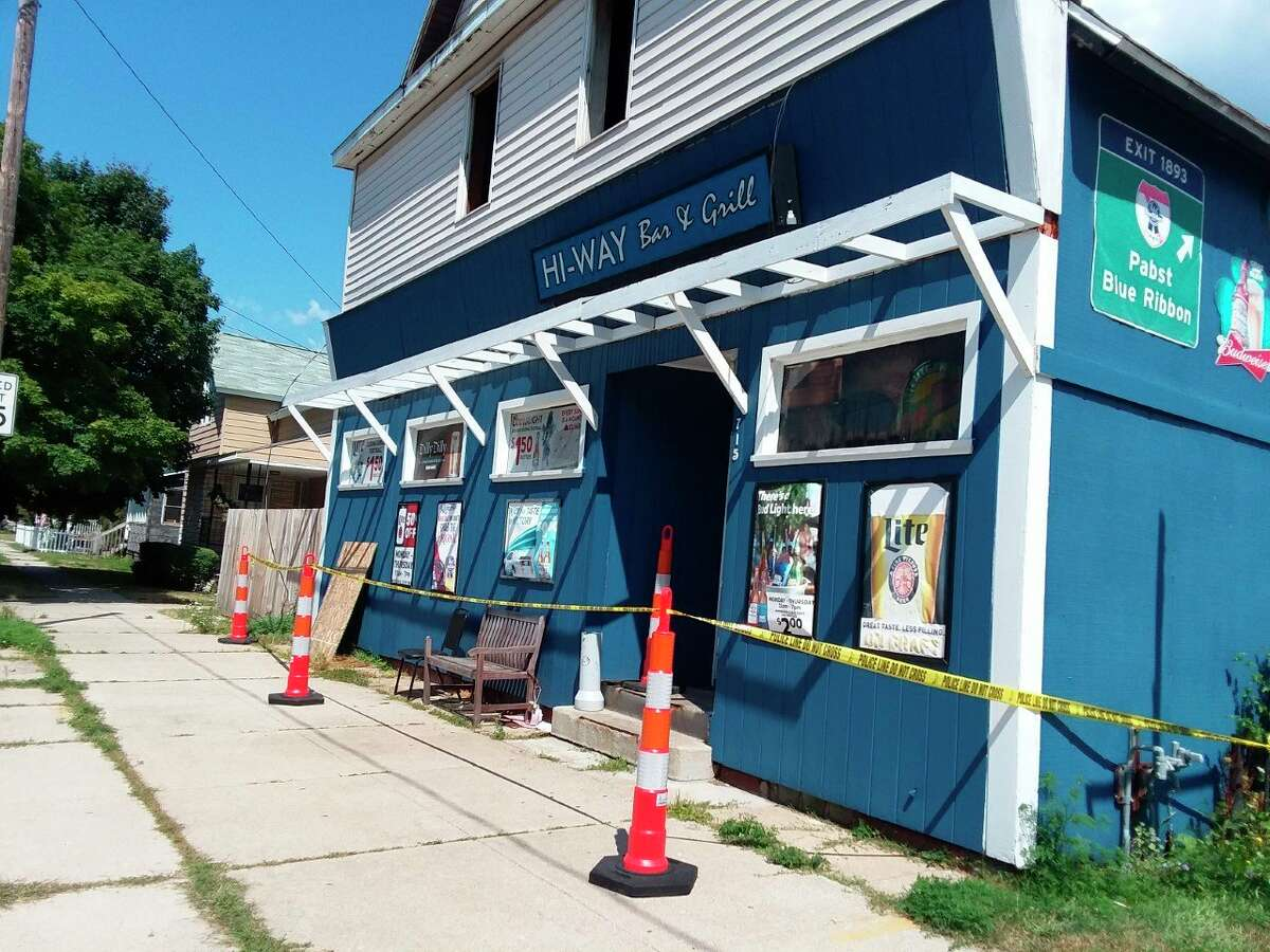 """A structure fire on Aug. 11 at the Hi-Way Inn is being considered """"suspicious"""" and is under investigation by the Manistee City Police Department and Michigan State Police Fire Marshal Division. (Michelle Graves/News Advocate)"""