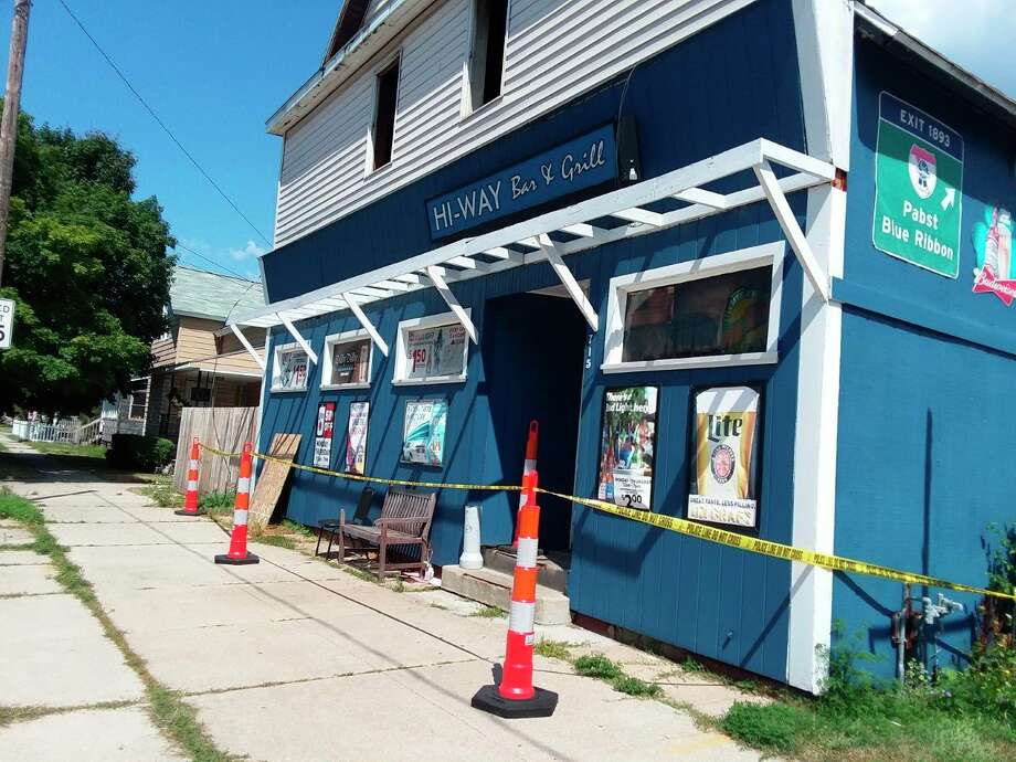 """A structure fire last week at the Hi-Way Inn is being considered """"suspicious"""" and is under investigation by the Manistee City Police Department and Michigan State Police Fire Marshal Division.(Michelle Graves/News Advocate)"""