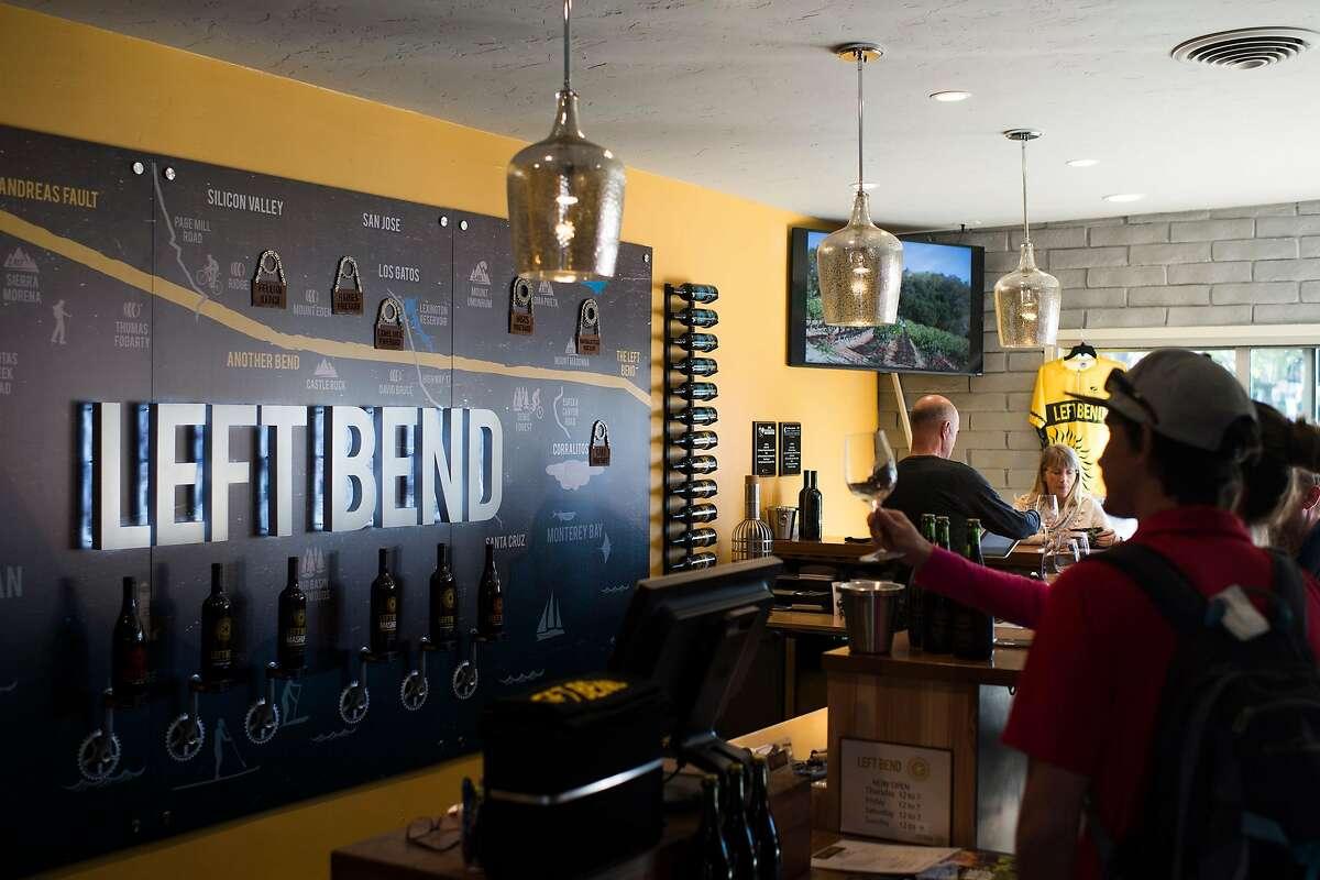 Left Bend Winery's tasting room in Los Gatos, Calif.