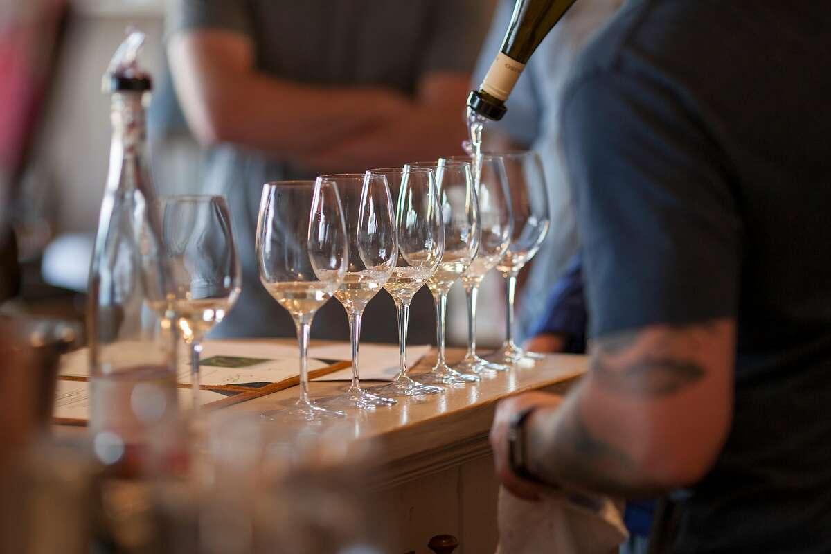 The tasting room at Paraiso Vineyards in Soledad, Calif., seen in 2017.