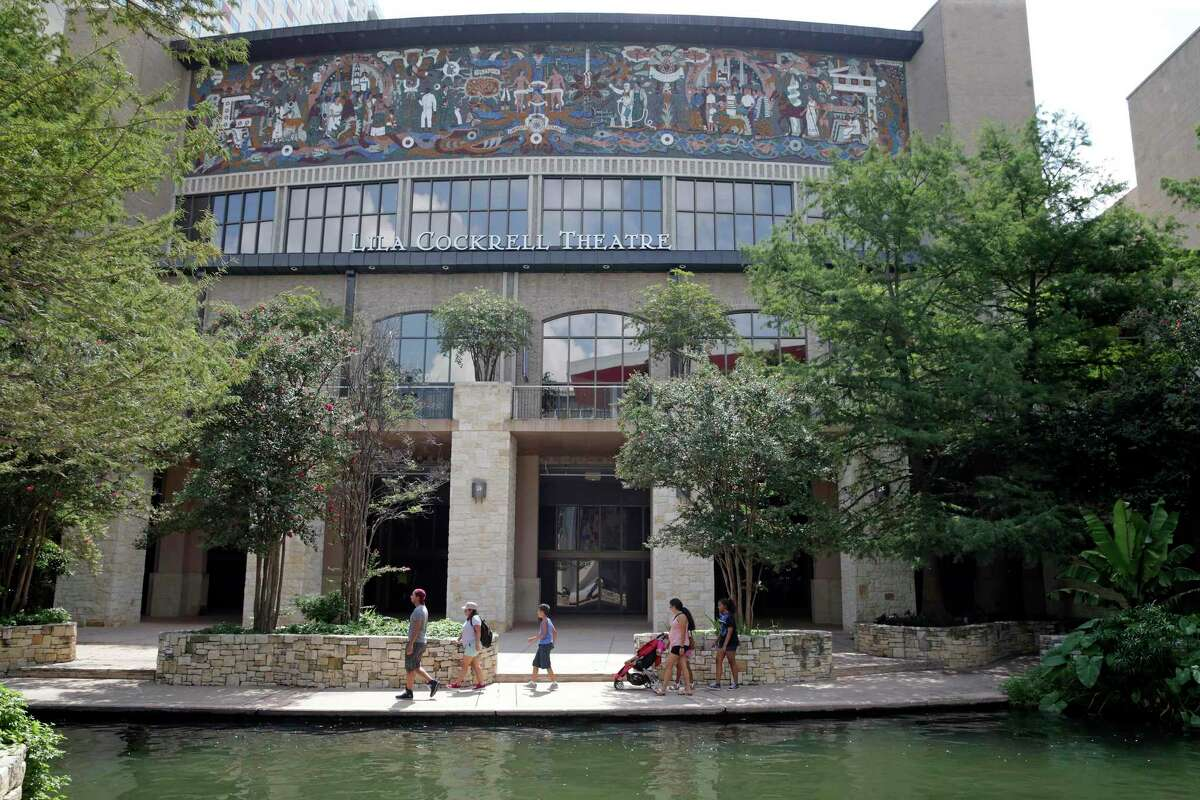 """""""Confluence of Civilizations,"""" a mural by Juan O'Gorman on the exterior of Lila Cockrell Theater, dates back to HemisFair in 1968."""