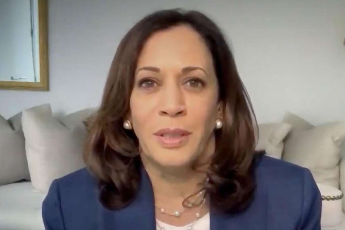 MILWAUKEE, WI - AUGUST 17: In this screenshot from the DNCCs livestream of the 2020 Democratic National Convention, Presumptive Democratic vice presidential nominee, U.S. Sen. Kamala Harris speaks in a video recorded montage during the virtual convention on August 17, 2020. The convention, which was once expected to draw 50,000 people to Milwaukee, Wisconsin, is now taking place virtually due to the coronavirus pandemic. (Photo by DNCC via Getty Images) (Photo by Handout/DNCC via Getty Images)