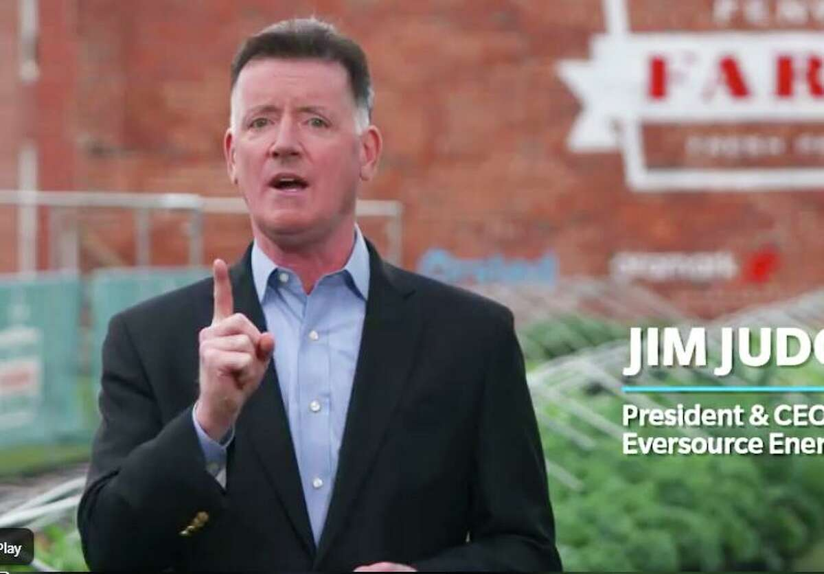 Eversource CEO Jim Judge, in a 2018 video promoting the company's energy efficiency initiatives. (Screenshot via Facebook)