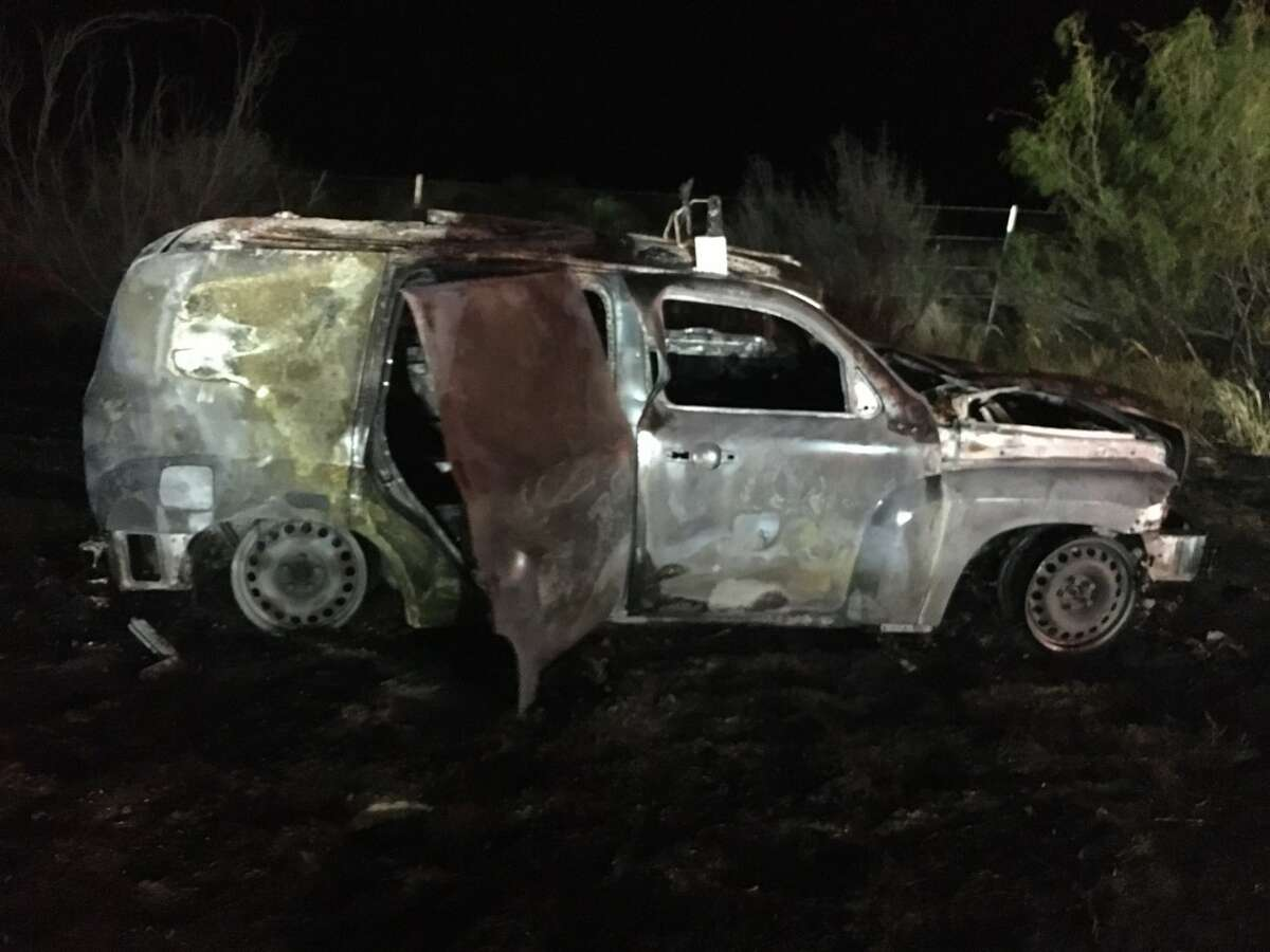These are the remains of a vehicle that caught on fire. U.S. Border Patrol agents said they foiled a human smuggling attempt and rescue people from this vehicle.