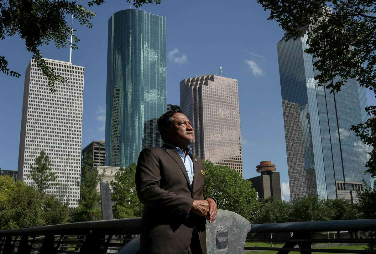 Bobby Quintos, managing director of Delta Offshore Energy, poses for a portrait Monday, Aug. 10, 2020, in downtown Houston.