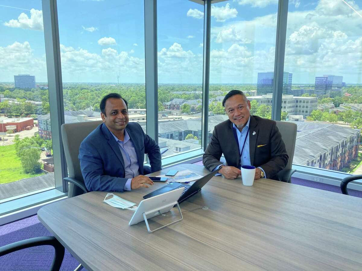 Left to Right: McDermott International project manager Soumya Pathi meets with Delta Energy Offshore Managing Director Bobby Quintos on Monday, August 10, 2020.Delta has selected McDermott International to build an offshore LNG import terminal and the subsea pipeline in Vietnam.