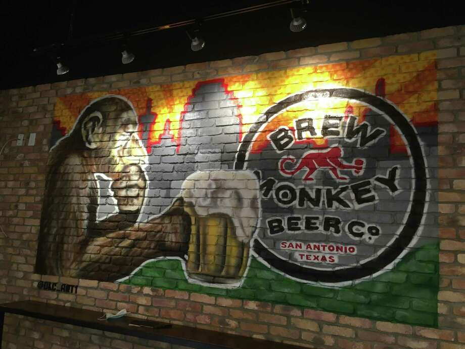 Brew Monkey Beer Co. has artwork throughout the tasting room that has been acquired through local artists. Photo: Chuck Blount /Staff